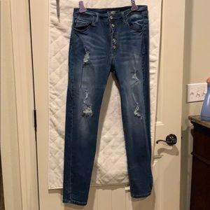 Distress jeans! Never worn but no tags!